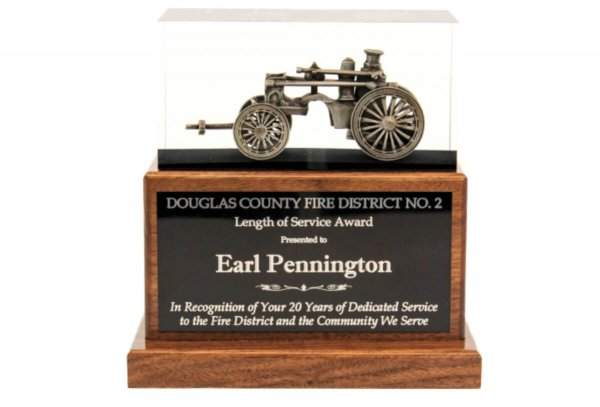 Antique Steam Fire Pumper Plaques